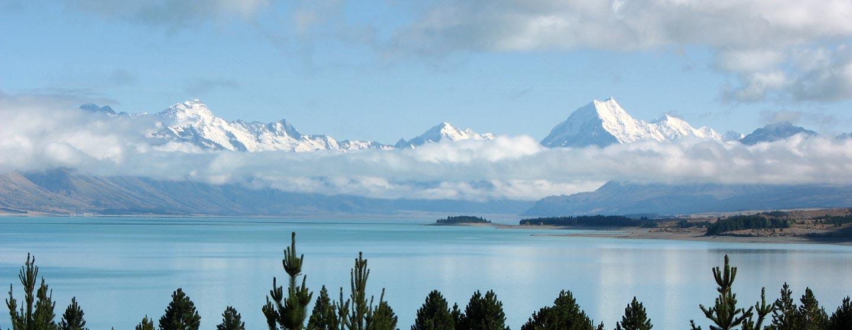 ניו זילנד - אגמים ופסגות מושלגות ליד קווינסטאון