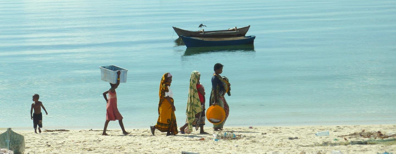מוזמביק - חוף על שפת האוקיינוס ההודי