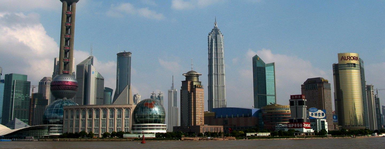 סין - גורדי שחקים ברובע פודונג בשנגחאי