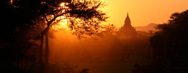 מיאנמר | בורמה - שקיעה בבגאן