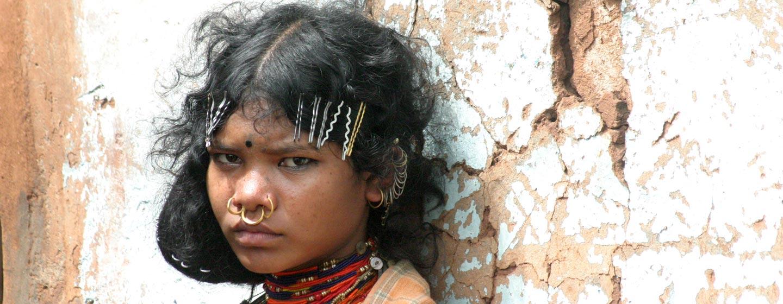 מזרח הודו - נערה משבט באוריסה