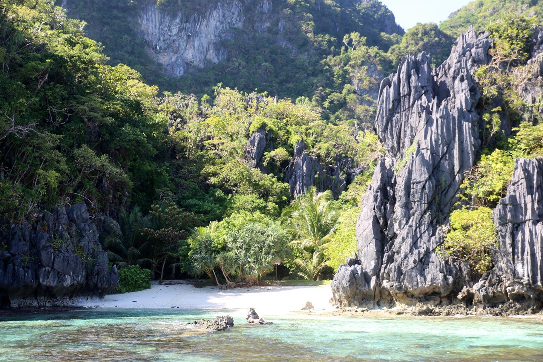 שונית אלמוגים וחוף נסתר בפיליפינים