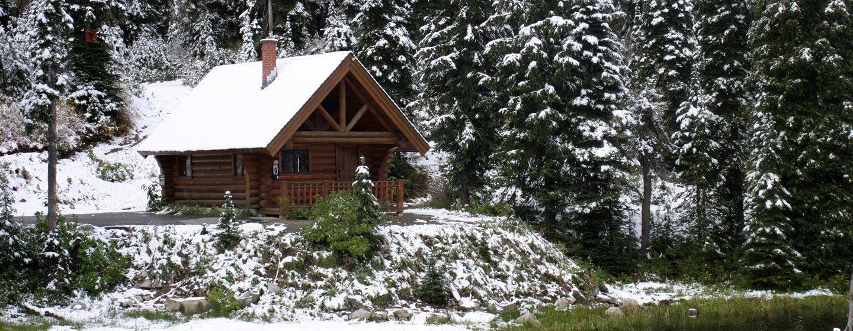קנדה - בקתה ביער בסתו, הרוקיס הקנדיים