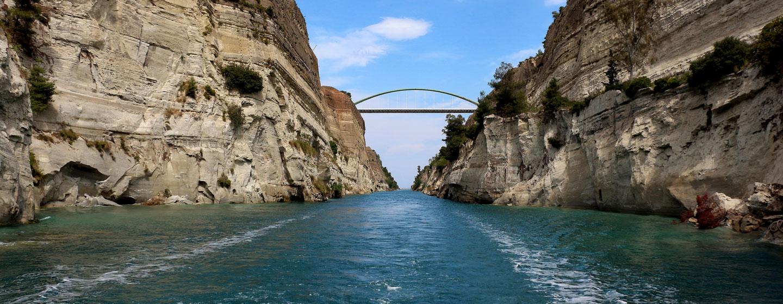תעלת קורינתוס, יוון