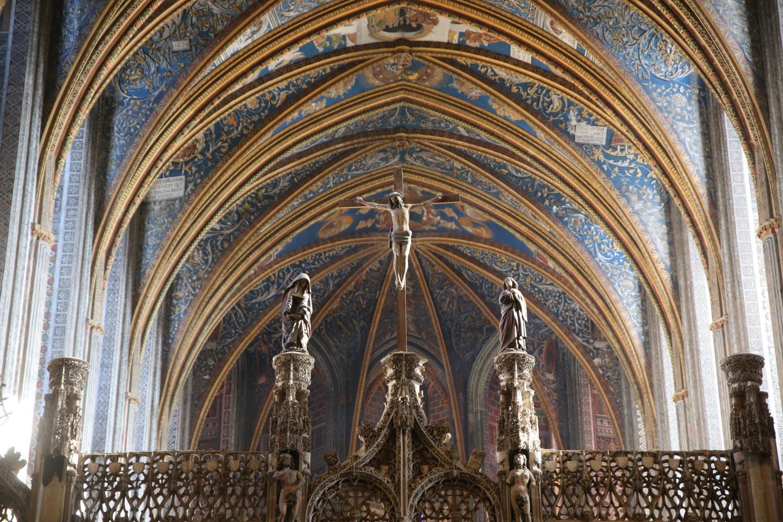 תקרת כנסיה גותית, במחוז לגדואוק ורוסוליון, צרפת