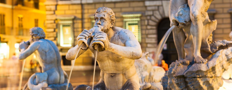 המזרקה בפיאצה נאבונה, רומא, איטליה