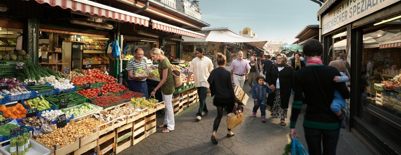 שוק naschmarkt בווינה, אוסטריה