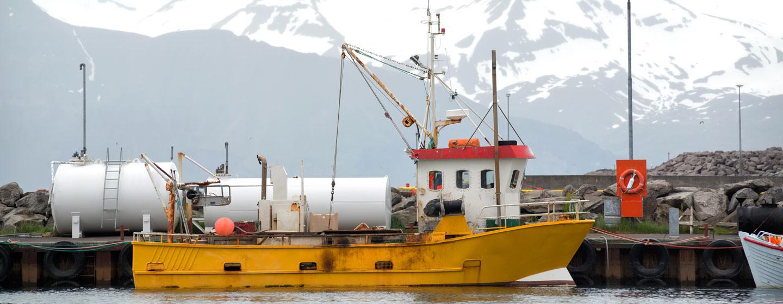ספינת דיג באיסלנד