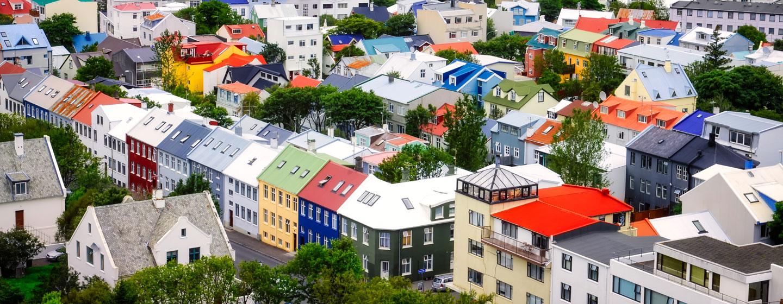 הבתים הצבעוניים של רייקיאוויק, בירת איסלנד