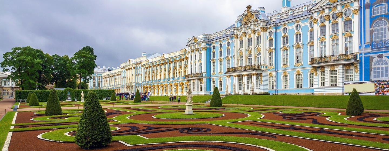 העיירה פושקין, פרבר יוקרתי של העיר סנט פטרבורג, רוסיה