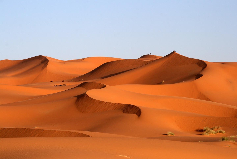 דיונות בקדמת הסהרה, דרום מרוקו