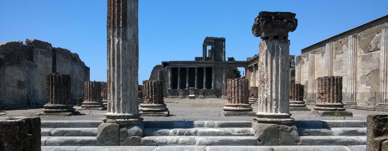 פומפיי, העיר שנקברה תחת אפר געשי בהתפרצות הר הגעש וזוב בשנת 79 לספירה