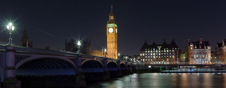 הביג-בן בלילה, לונדון