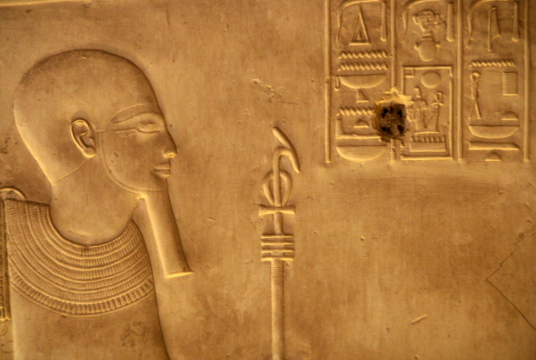 תבליט קיר במקדש פרעוני באיזור לוקסור, מצרים