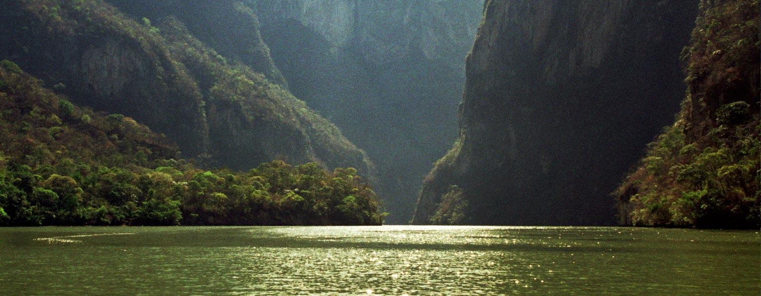 קניון סומידרו במדינת צ'יאפס במקסיקו