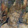 ציור פרסקו ממערות אג'נטה, מהרשטרה, הודו