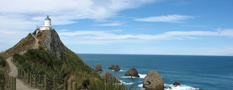 האי הדרומי / ניו זילנד - מגדלור ומפרץ