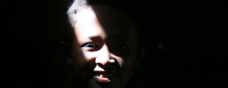 הרי באלה / אתיופיה - נער בתחנת קמח