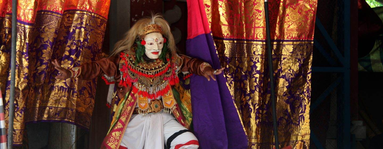 באלי / אינדונזיה - תיאטרון מסורת בכפר באלינזי