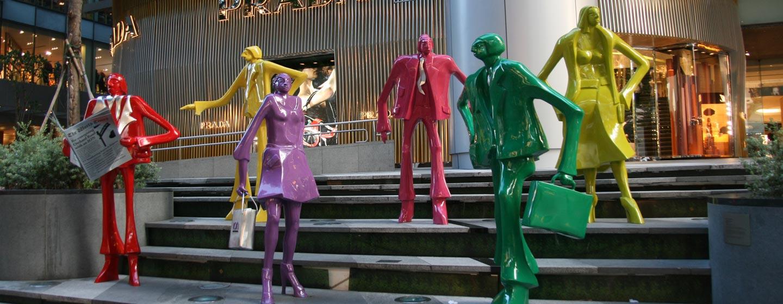 סינגפור - פסל סביבתי בשדרות אורצ'ארד