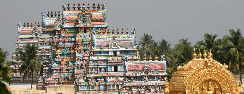 דרום הודו - שערים במקדש במדינת טאמיל נאדו