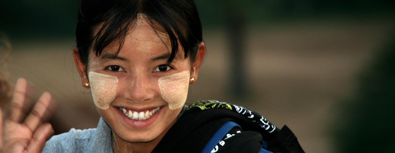 נערה בורמזית בבגאן