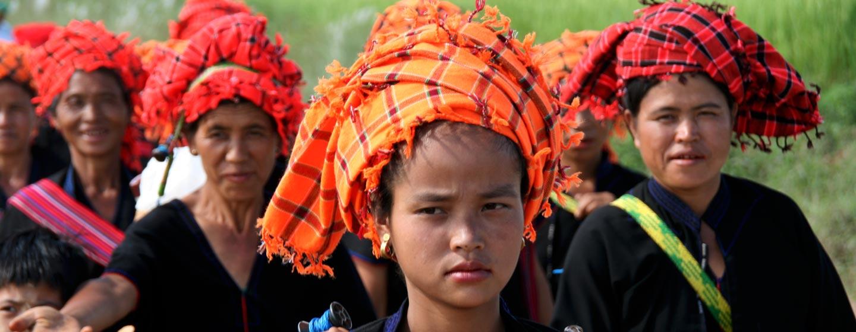 נשים משבט פא או במדינת שאן במזרח מיאנמר | בורמה