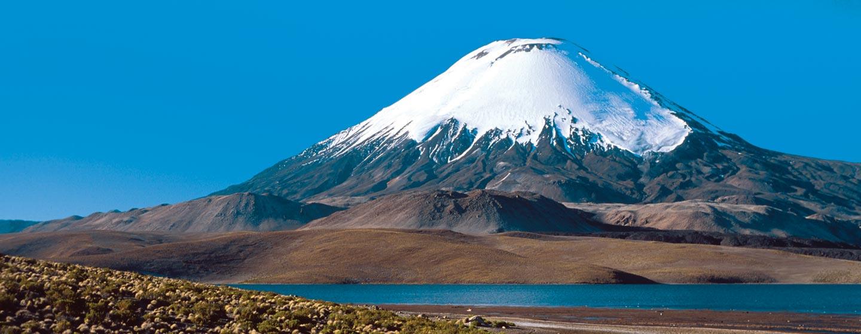 צ'ילה - פסגת הר געש במדבר אטאקאמה