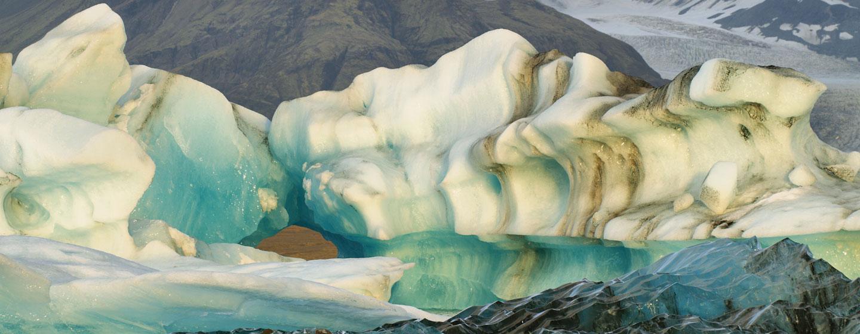 לגונה בקרחון ואטנאיוקול, הקרחון המפורסם באיסלנד