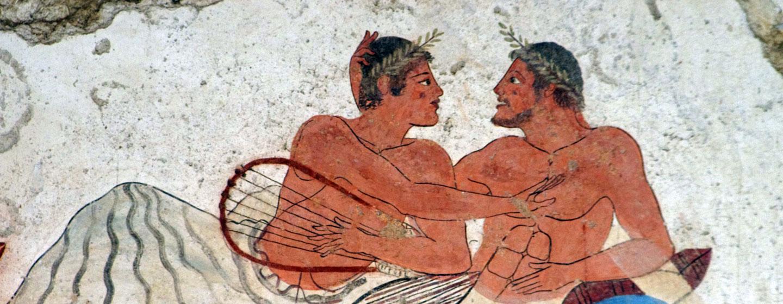 ציור קיר בפאסטום, דרום איטליה