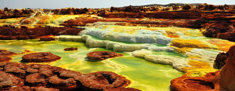 תצורות גיאולוגיות מרהיבות במדבר דנקיל