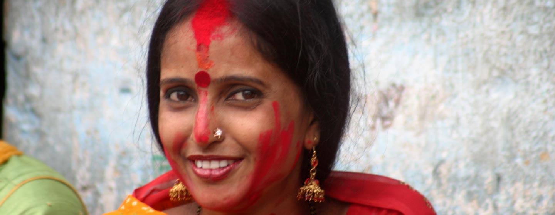 אשה בפסטיבל דאסרה, קולקטה.