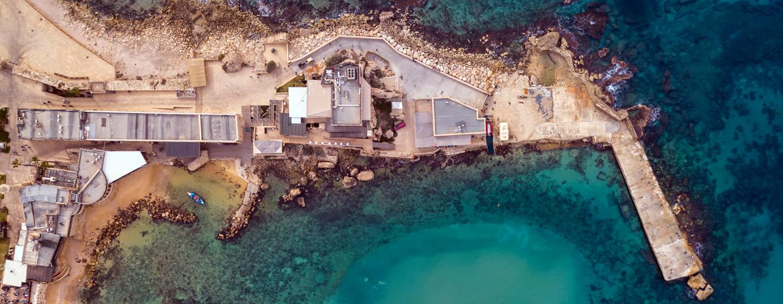 עיר הנמל קיסריה, מבט מלמעלה Idomeir, ויקיפדיה