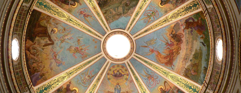 תקרת הכנסייה בסטלה מאריס