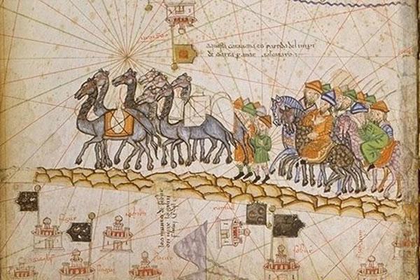 שיירה על הדרך המשי, איור משנת 1380