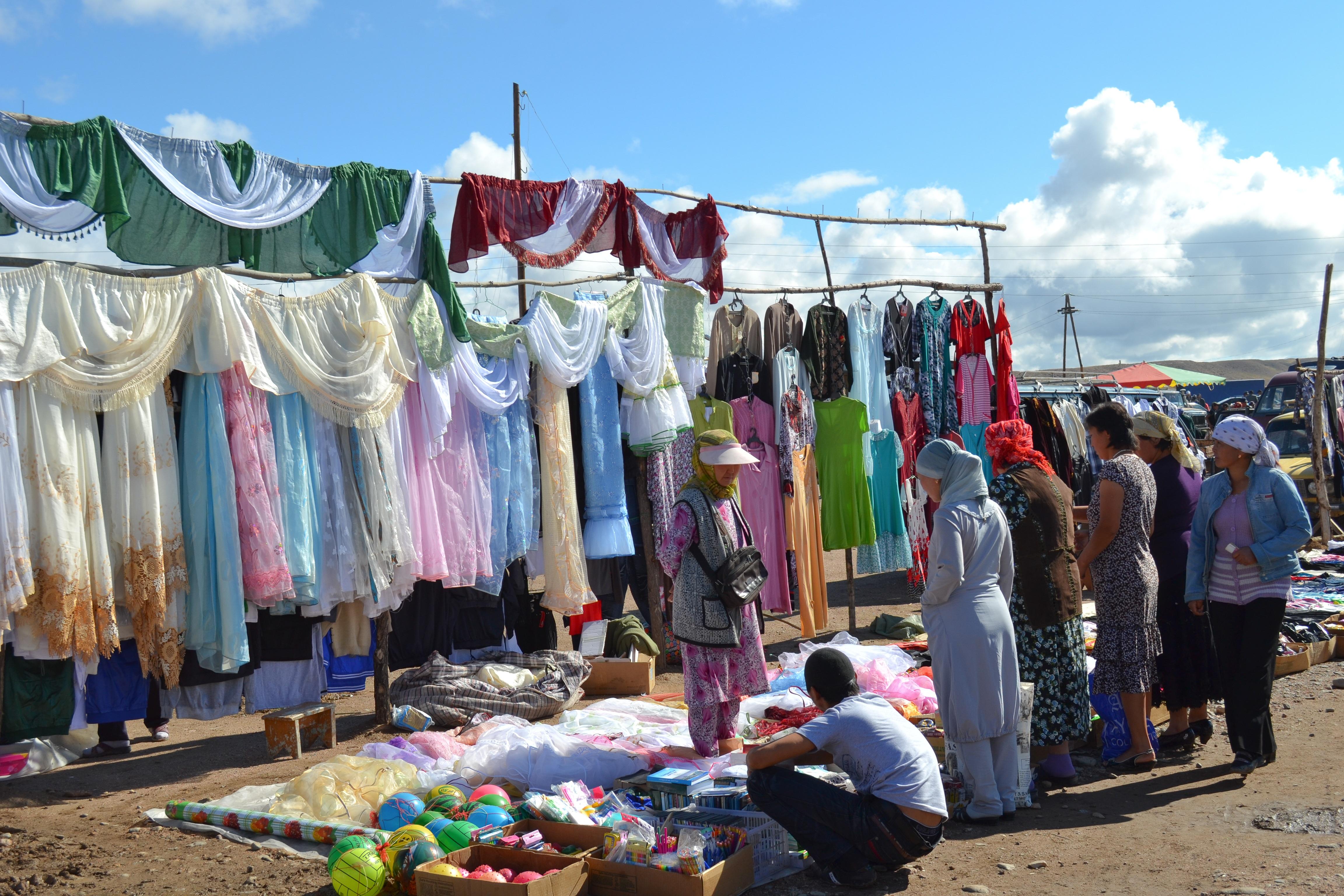 שוק בקירגיזסטן