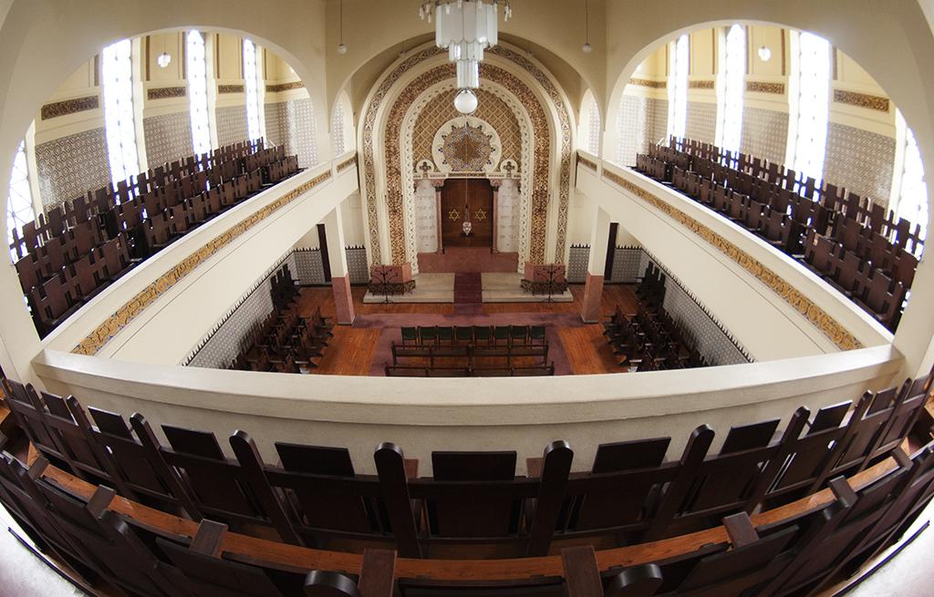 בית הכנסת כדורי בעיר פורטו שבפורטוגלף שהוקם על ידי ארתור קרלוש דה בארוש באשטו | צילום: Bricking
