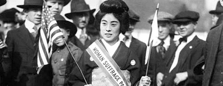 קומקו קימורה, אחת הדמויות הבולטות במאבק הנשים היפניות להצביע