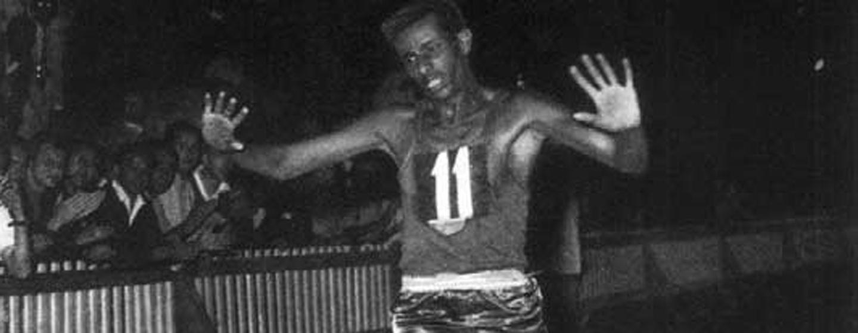 אבבה ביקילה זוכה במדליית הזהב באולימפיאדת רומא, 1960