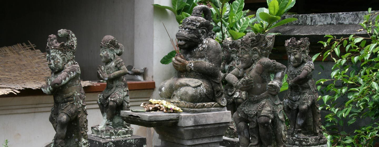 אלים מגוננים על באר מים קדושים בבית באי באלי | צילום: ניסו קדם