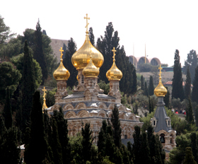 ביקור בכנסיות ואתרים רוסיים בירושלים