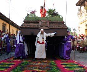 20 יום אל תרבויות המאיה והאצטקים בעת חגיגות הפסחא באנטיגואה